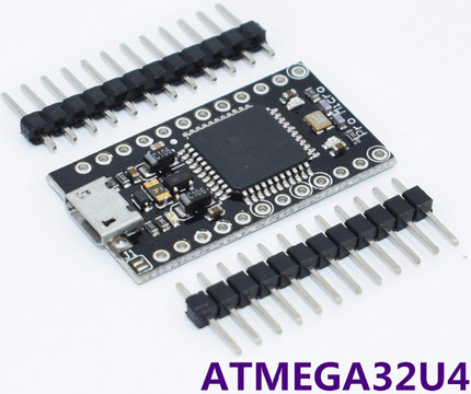 Arduino PRO micro ATmega32u4 HID BLACK черная