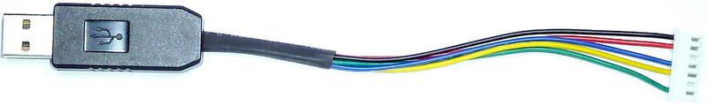 Адаптер кабель гибкий USB-UART в USB гнездо на PL2303HX