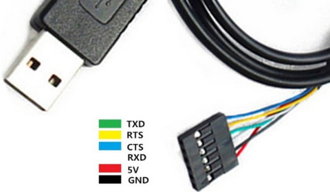 Адаптер кабель гибкий USB-UART в USB гнездо на FT232RL