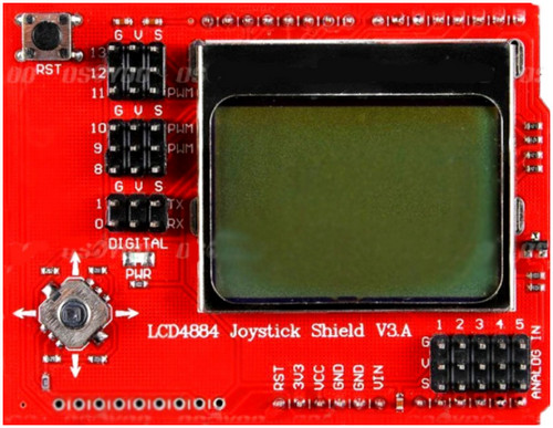 LCD4884 Joystick shield V3 LCD nokia 5110