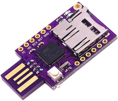 BadUSB на ATmega32u4 с гнездом microSD эмулятор клавиатуры, мыши, HID