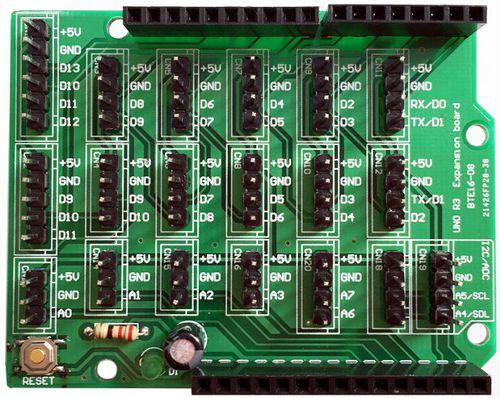 Arduino io extantion shield шилд для увеличения контактов Ардуино